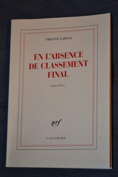 Tristan Garcia : En l'absence de classement final
