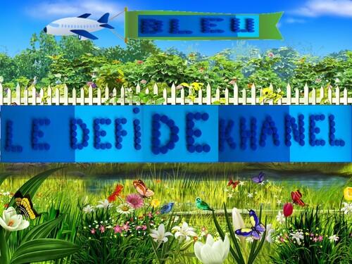 Du bleu pour Khanel