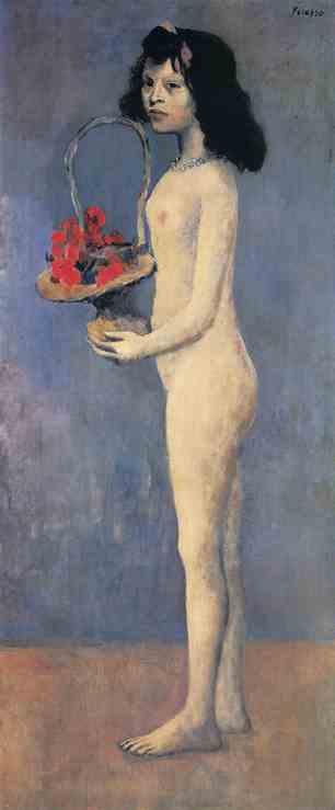 """Pablo Picasso's """"Fillette à la corbeille fleurie,"""" 1905"""