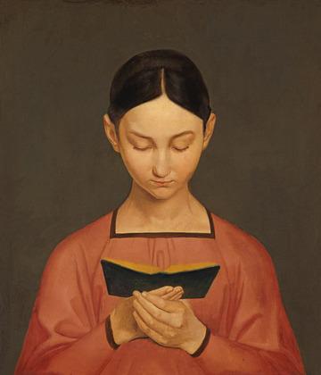 Gustave Adolphe Hennig, Petite fille en trian d elire (1828).