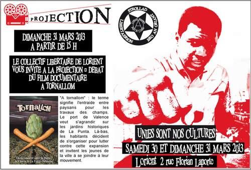 Unies sont nos cultures samedi 30 et dimanche 31 mars 2013