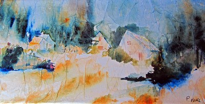Vieux village: un tableau qui sera exposé à Hudson
