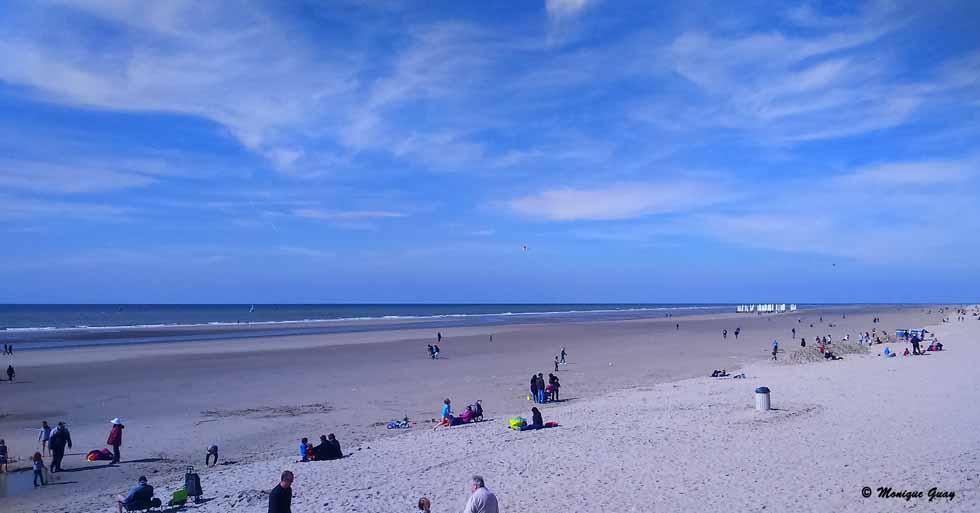 En avril plage du Touquet