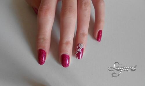 Nail Art 3D Fleurs d'hiver