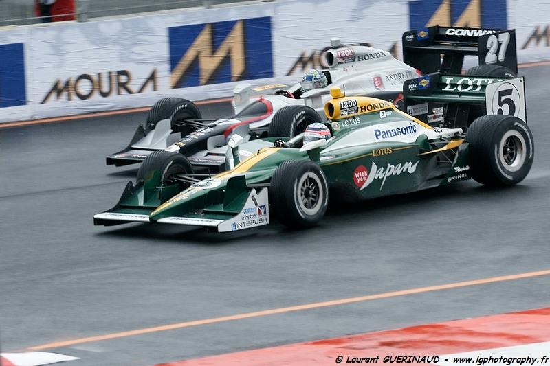 Indy Car - Itaipava São Paulo Indy 300 - Takuma Sato (5 - KV Racing Technology - Lotus) & Marco Andretti (26 - Team Venom Energy)