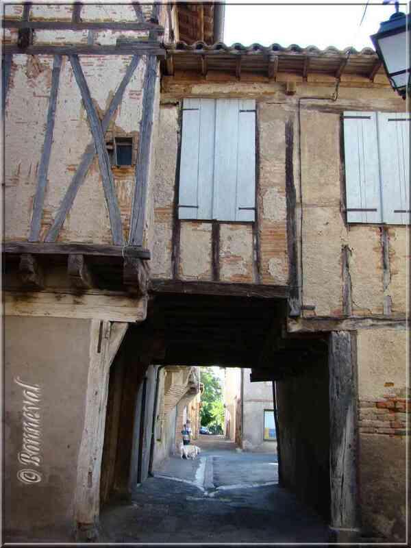 Lisle-sur-Tarn Tarn pontets entre les maisons