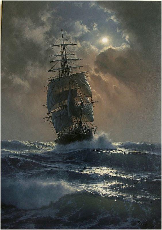 Les Peintures à l'Huile hyperréalistes de Marek Rużyk captent la magnifique Gloire des Navires en Mer (7)