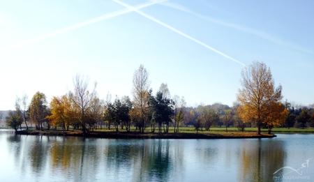 Le lac de Saramon dans le Gers