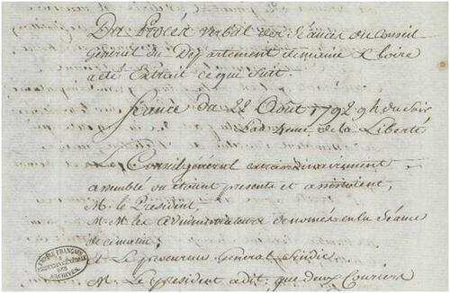 1792, vu depuis le Maine-et-Loire (4° partie)....