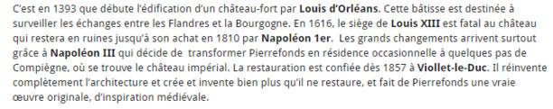 """""""""""LE CHÂTEAU de PIERREFONDS""""""""  dans L' OISE."""
