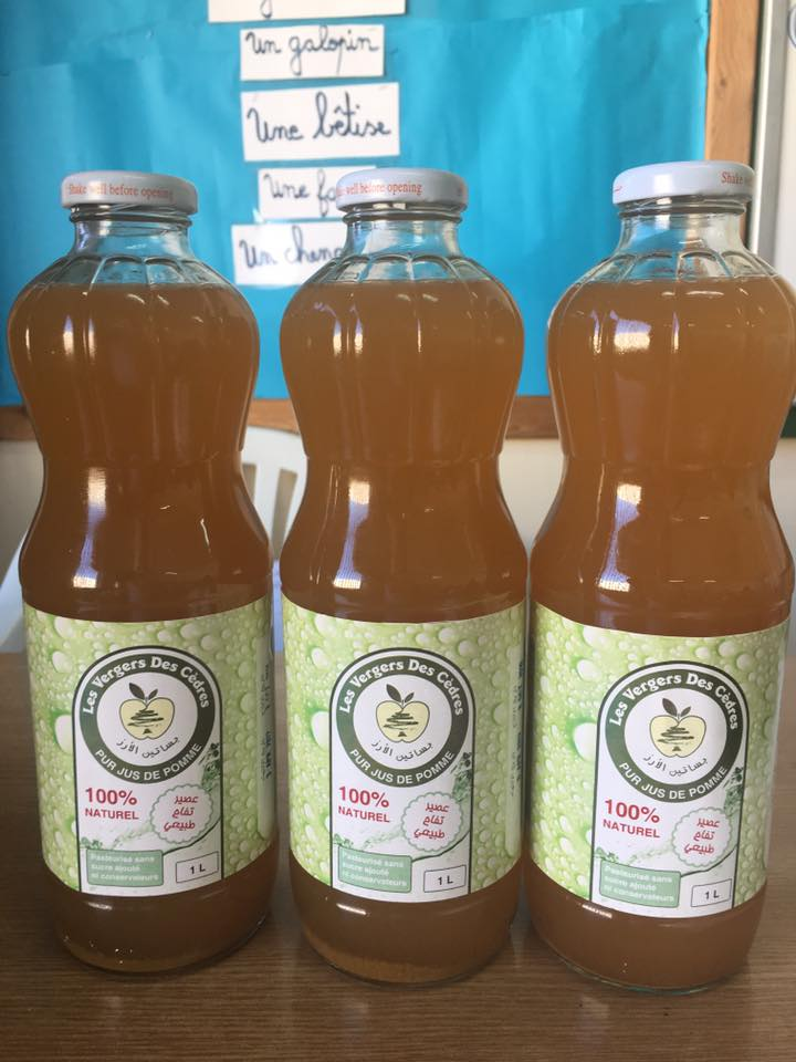 Les jardins du verger : un jus de pomme 100 % naturel.