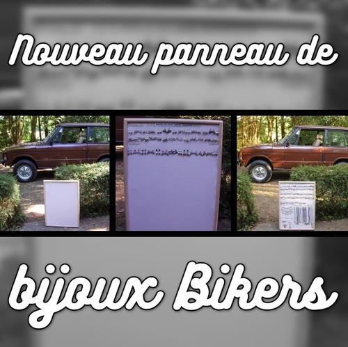 Nouveau panneau de bijoux Bikers