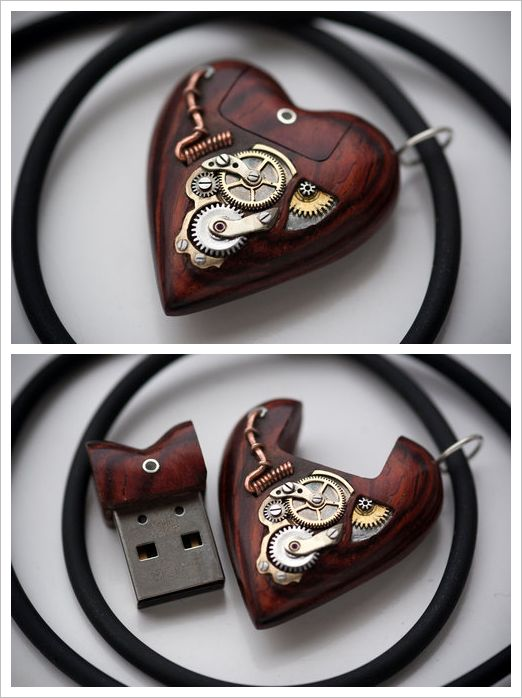 32GB USB Heart Pendant by Artype  Steampunk Tendencies Official Group: