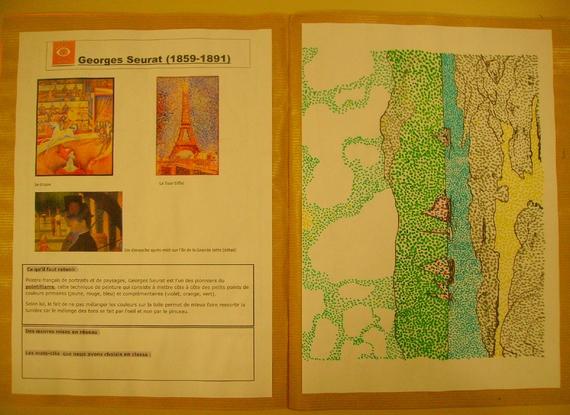 Cahier d'Histoire des arts : exemples de mises en pages
