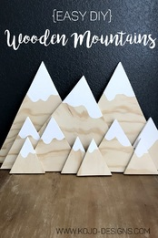 easy DIY wooden mountains