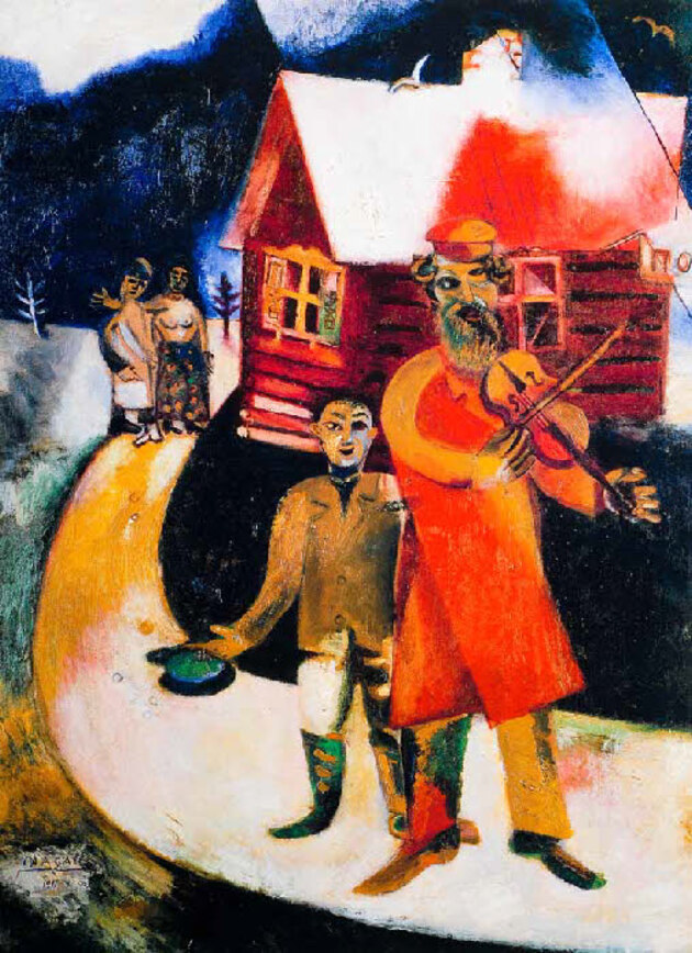 Chagall 6 /  1913:le violoniste