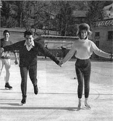 Janvier 1964 : Sheila patine...