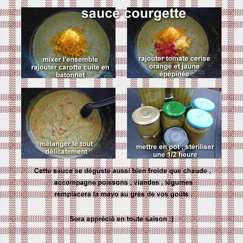 Sauce courgette