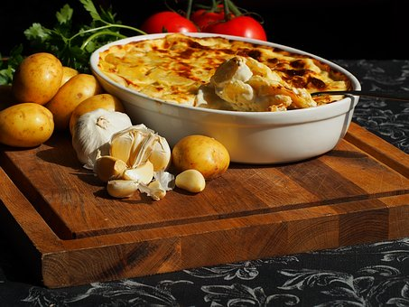 Flødekartofler, En Gratin
