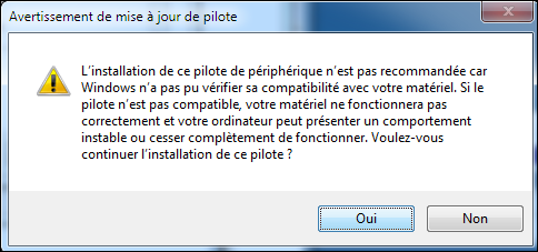 Pilote Windows 7