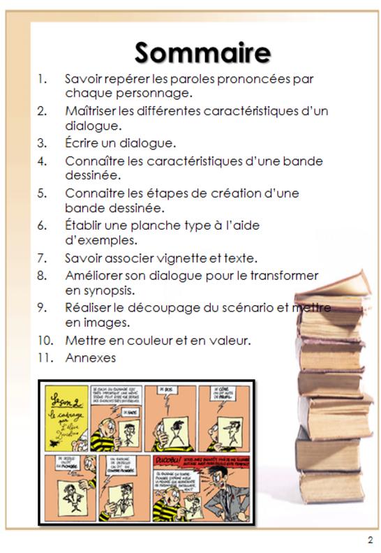 français : du dialogue à la bande dessinée - cycle 3