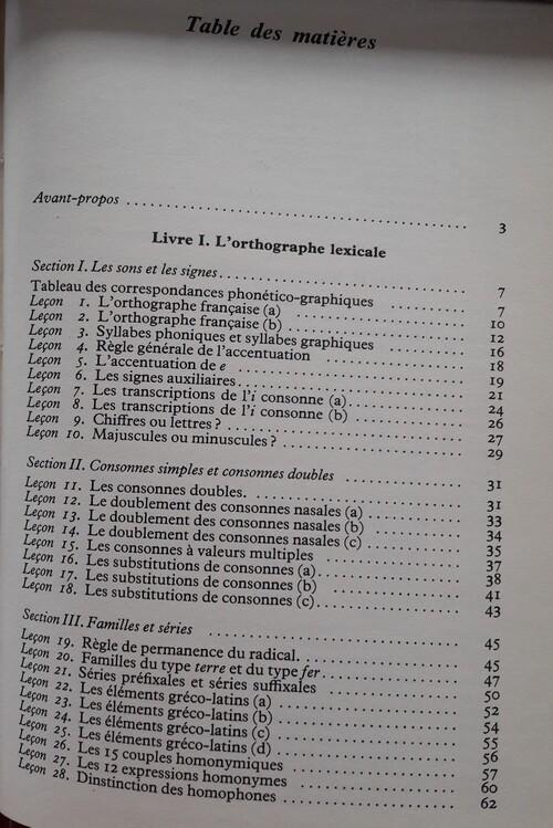 Les 30 problèmes de l'orthographe (Hachette, 1979)