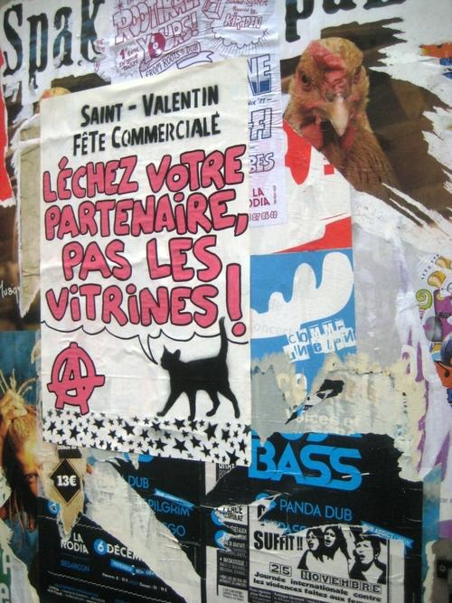 A la Saint-Valentin léchez votre partenaire, pas les vitrines!!