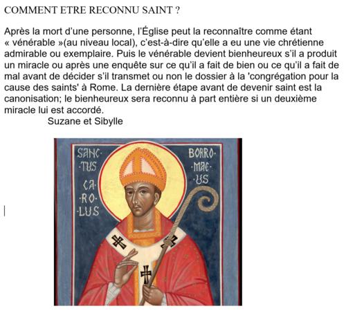 Comment est-on reconnu saint?
