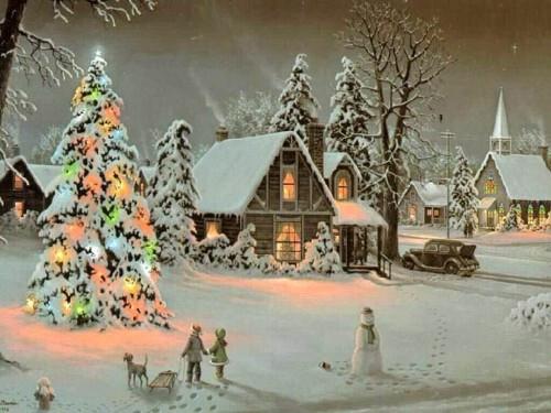 la neige étend son manteau blanc