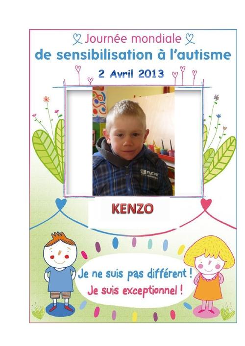 2 avril: Journée mondiale de sensibilisation à l'autisme.