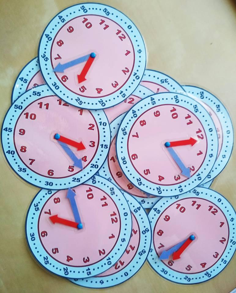Durées - Mini-pendules à manipuler