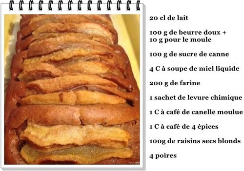 Cake aux poires ...