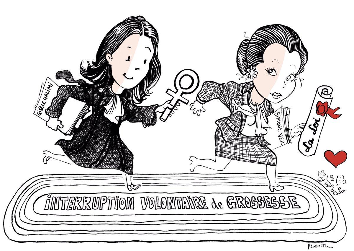 G. Halimi. PLANTU Officiel 28 juillet 2020 Disparition d'une immense avocate et militante du féminisme (dessin publié dans Le Monde)