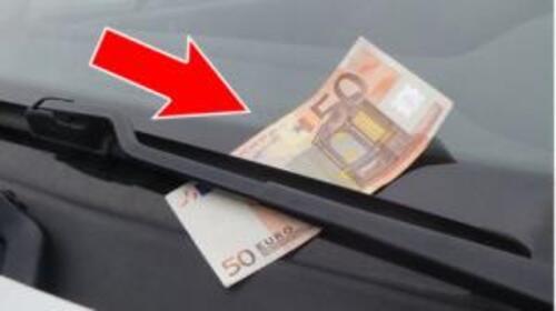 Billet de 50 euros sur le pare-brise  attention à l'arnaque
