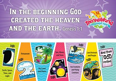 IncrediWorld VBS: Days of Creation Bookmark: KJV: