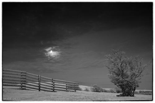 Coucher de Lune au Vercors...