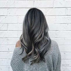 Image de hair, hairstyle, and grey