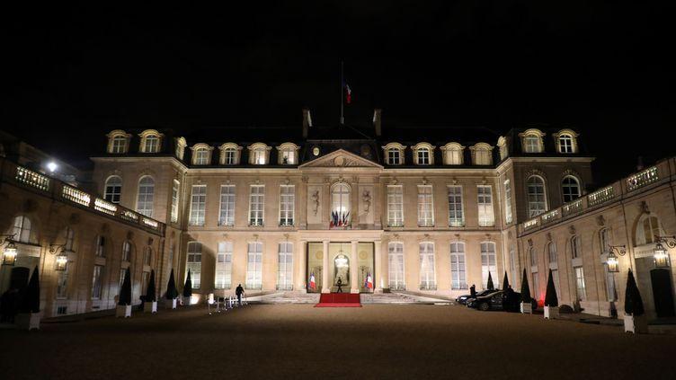 Le palais présidentiel de l'Elysée à Paris. (LUDOVIC MARIN / AFP)