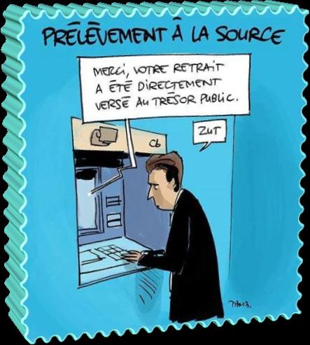 Prélèvement à la source (Humour)
