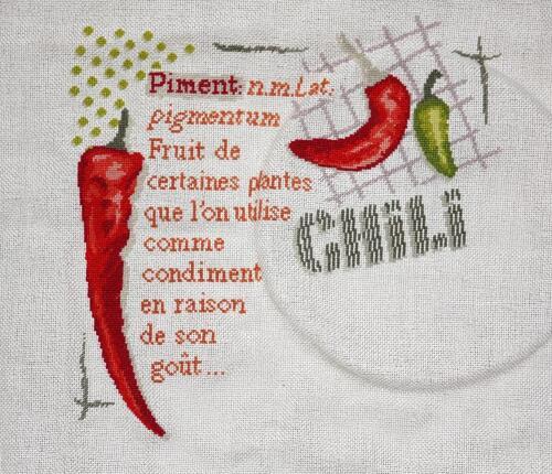 """Lilipoints """"les piments"""" - 8ème étape"""