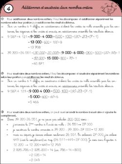 Leçons CM2 pour la période 1.