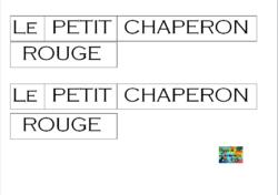 """""""Le Petit Chaperon rouge"""" - Exploitation du conte - MS - Découvrir l'écrit et se repérer dans l'espace d'une page"""