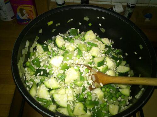 Risotto aux légumes vert
