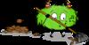Dessin - Mystik's ramasse les feuilles mortes (automne)