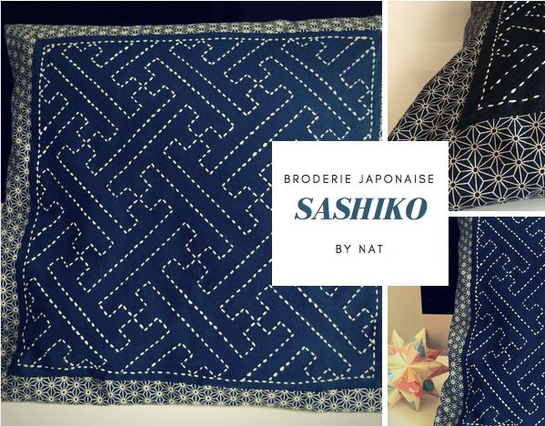 Coussin en Sashiko