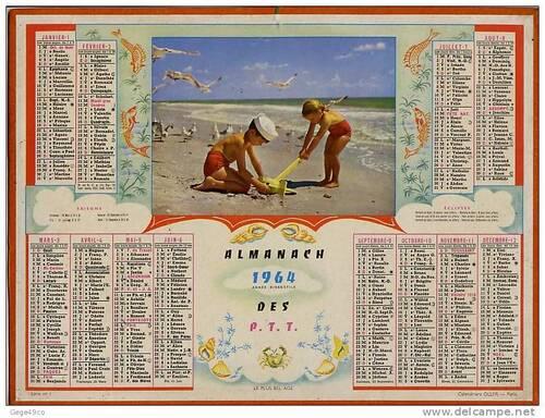 Le calendrier de la Poste
