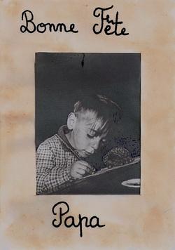 Carte cadre fête des pères inspiration Robert Doisneau