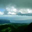 La côte Caraïbe vue depuis la Pelée - Photo : Hervé