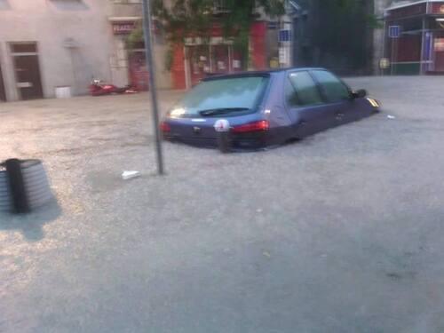 Inondation à Belley