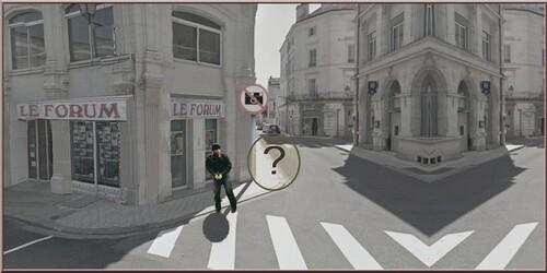 Où donc est passée mon ombre , photo montage Place F Louvel 16 Angoulême .